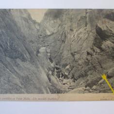 Rara! Valea Mălinului(varful Coștila) muntii Bucegi,carte postala circulata 1914