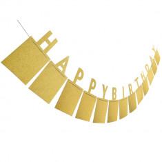 Suport fotografii, Happy Birthday, culoare galben