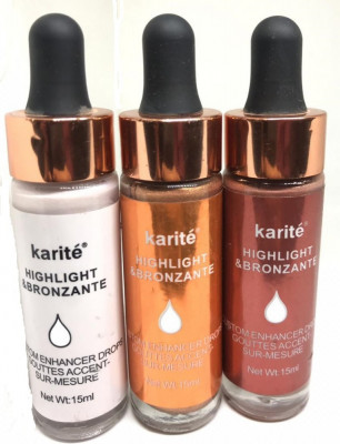 Set iluminator highlighter bronzer si Blush lichid picatura Karite foto