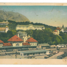 1370 - SINAIA, Railway Station, Romania - old postcard - used - 1936, Circulata, Printata