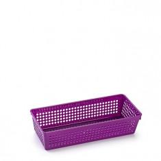Cutie dreptunghiulara din plastic diverse intrebuintari-violet