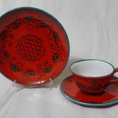 Serviciu mic dejun ceramica veche Italia