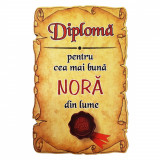 Magnet Diploma pentru Cea mai buna NORA din lume, lemn, Alexer