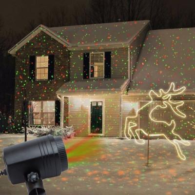 Proiector laser tip Star Shower, stelute miscatoare, exterior, IP44, telecomanda foto