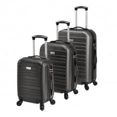 [pro.tec]® Set 3 Valize Tip Troler 1, 43 x 26,5 x 69 cm, ABS plastic, ...
