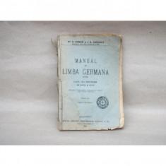 Manual de Limba Germana , Dr. G. Coman, J. A. Candrea , 1926