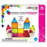 Magna-Tiles Stardust cu sclipici si oglinzi - 15 piese