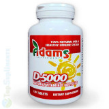 Cumpara ieftin Vitamina D-5000 120cps. (imunitate, oase, muschi, nervi) Adams Supplements