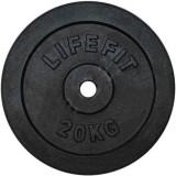 Disc de otel DHS, 20 kg, 35 x 35 x 4 cm, Negru