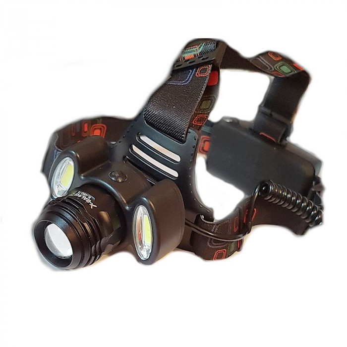 Lanterna frontala cu zoom Bailong C862, 4 trepte lumina