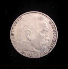 Germania - 2 Reichsmark 1938 E - Argint foto
