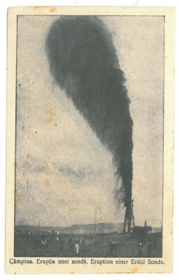 64 - CAMPINA, Prahova, oil well, Romania - old postcard - unused foto
