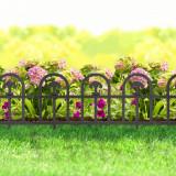 Bordura pt. pat de flori gard - 60 x 30 - Negru
