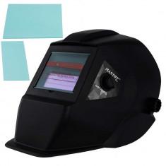 Masca de protectie sudura automata, heliomata + 2 filtre protectie din PVC