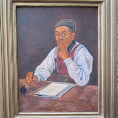 Tablou scriitor semnat Cimpoesu