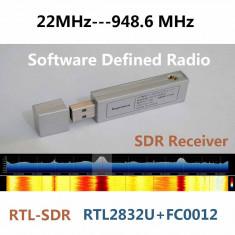SDR Radio PC 22MHz-945MHz RTL2832U+FC0012 + Antena