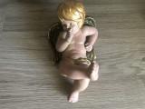 Inger,ingeras ceramic german,cu aripioare,pictat