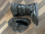 Cizme negre înalte semi-imblanite, 41, Negru
