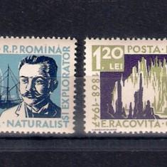ROMANIA 1958 - 10 ANI DE LA MOARTEA LUI EMIL RACOVITA - MNH - LP 458