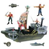 Set de joaca nava pirat, 4 figurine, Oem