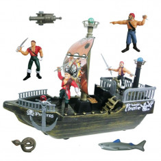 Set de joaca nava pirat, 4 figurine