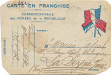 Carte postala militara franceza 1916 Primul Razboi Mondial
