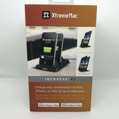 Statie incarcare dual XtremeMac Incharge X2 / Pod/iPhone/iPad 30 pini, iPhone 4/4S