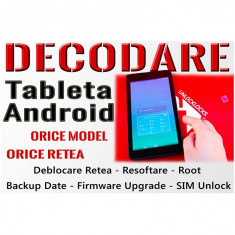 Decodare Tableta Android Orice Marca & Orice Model – Deblocare Tablete Retea