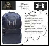 In STOC! Ghiozdan Under Armour Project 5 - Original - Dimensiuni 44 x 28 x 11 cm, Bleumarin, Marime universala