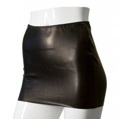 Fusta mini neagra din latex - GP DATEX marimea M