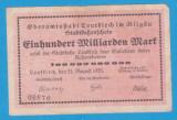 (1) BANCNOTA (GROSSNOTGELD) GERMANIA - LEUTKIRCH - 100 MILLIARDEN MARK 1923