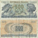 1966 ( 20 VI ) , 500 lire ( P-93a.1 ) - Italia