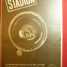 Revista Stadion -1948 1 martie- Campionatele Nationale Box ,dar si Camp. Fotbal