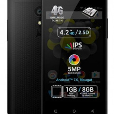 Telefon mobil Allview P4 Quad, Procesor Quad-Core 1.25 GHz, IPS LCD Capacitive touchscreen 4.19inch, 1GB RAM, 8GB, 5MP, Wi-Fi, 4G, Dual Sim, Android (