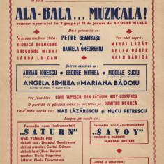 Afis concert Savoy Angela Similea Nae Lazarescu si altii anii 1970 comunist