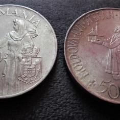 Lot Mihai I - 100.000 lei 1946 si 500 lei 1941 Stefan! argint, de colectie