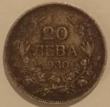 Regatul Bulgariei - 20 Leva 1930 - Argint