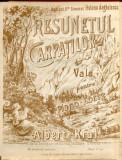 Rasunetul Carpatilor Albert Kral Partitura Muzicala Romaneasca (Vals) Craiova