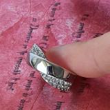 Inel Fashion Dama Design Deosebit Cu Strasuri -  Marime 18