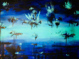 "Tablou abstract ""Flying Waterlilies""  120/100cm"