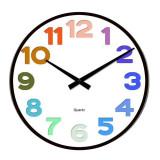 Ceas de perete din sticla ClassGifts Color Time cu cifre si culori 34 cm Cod Produs 2454