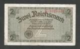 GERMANIA NAZISTA  2 MARCI  REICHSMARK 1940 [23] P- 137a ,7 cifre , Litera K , VF