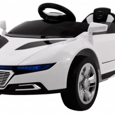 Masinuta electrica S-Turbo, alb