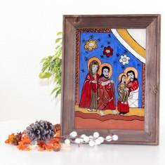 Prezentarea lui Iisus la Templu -Icoană pictată pe sticlă