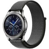 Cumpara ieftin Curea ceas Smartwatch Samsung Gear S3, iUni 22 mm Soft Nylon Sport, Midnight Gray