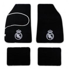 Set covorase auto din mocheta Real Madrid model universal , set de 4 bucati , set de 4 bucati