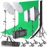 Kit Studio Foto Lumini Profesionale / softbox / fundal foto