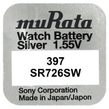 Baterie de ceas Murata 397 SR726SW AG2 1.55V 1 Bucata /Set