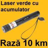 Laser pointer Verde 10000 MW 303 Acumulator+Incarcator inclus NOU !