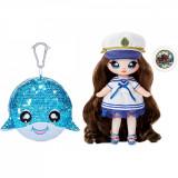Na Na Na Surprise 2 in 1, Sparkle S1 - Papusa si accesoriu fashion, Sailor Blu, 573753